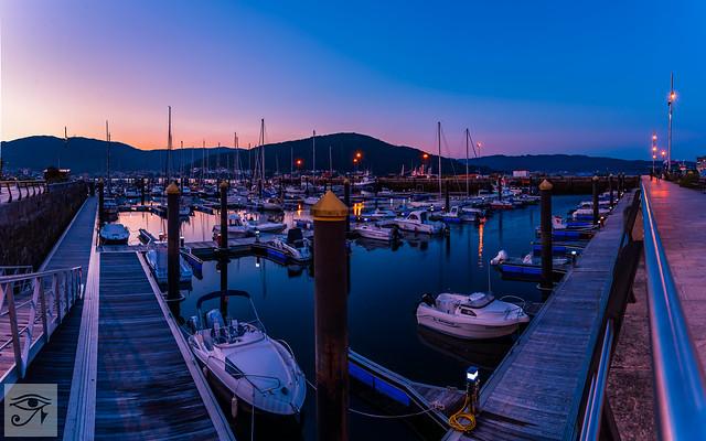 Sunset in Muros. Galicia. Spain.