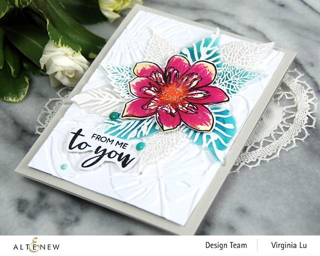 Altenew-BAF Fashion Monger Dahlia-Monstera Leaves3D Embossing Folder-004