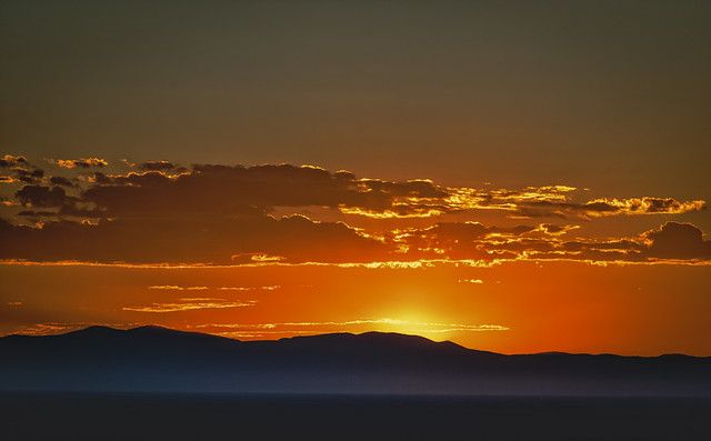 Sunset - Northwest of Sand Dunes