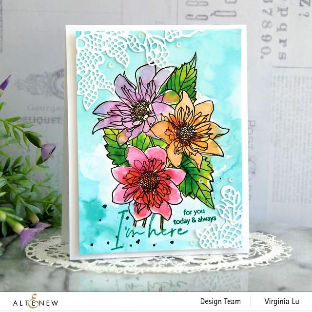 Altenew-PAF Fashion Monger Dahlia-Artists' Watercolor 24 Pan Set-Floral Lace Die