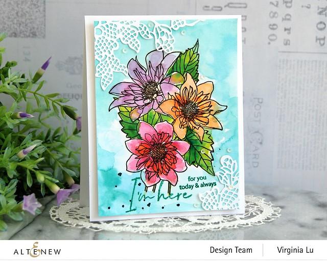 Altenew-PAF Fashion Monger Dahlia-Artists' Watercolor 24 Pan Set-Floral Lace Die (2)