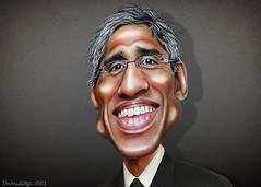 Vivek Murthy - Caricature