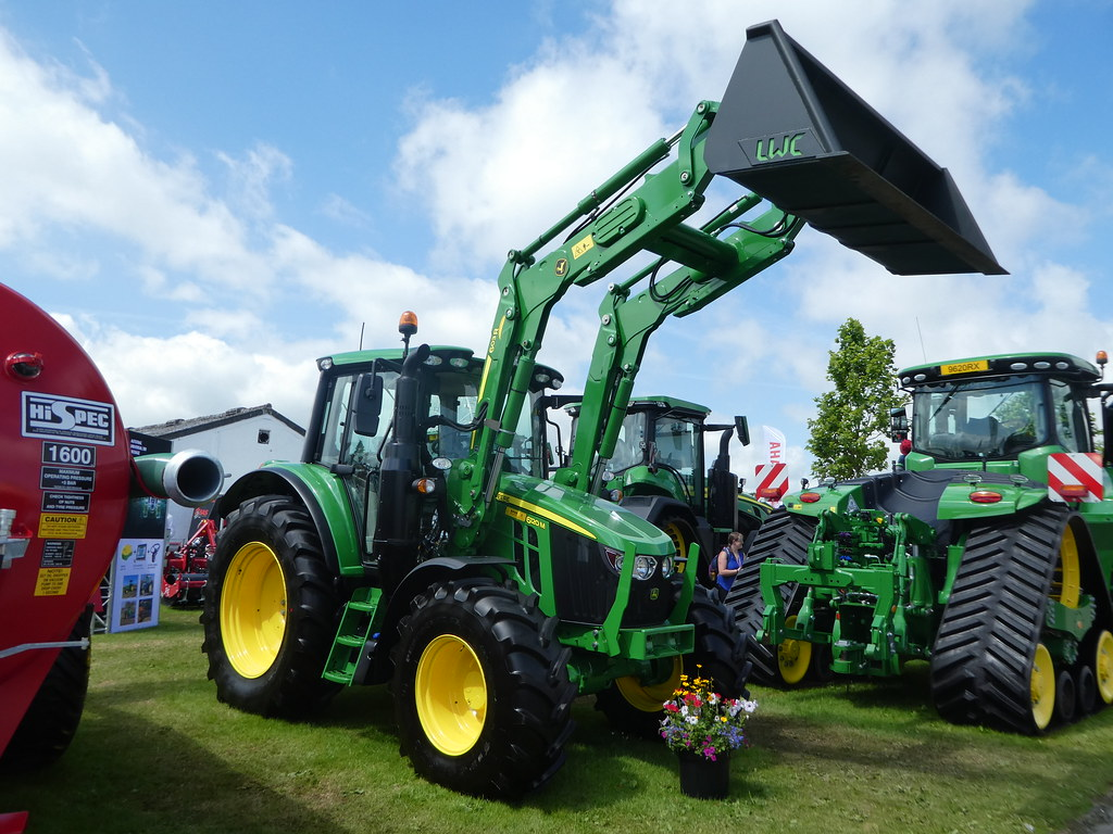 Farm machinery on display at the Great Yorkshire Show