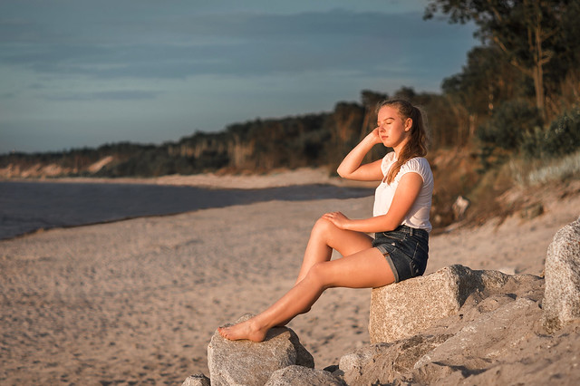 Martyna at sunset