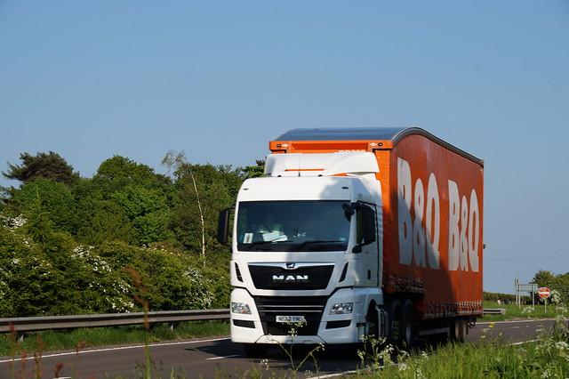 6 DSC08352.  A66 Trucks, Hargill, North  Yorkshire.     B&Q , MAN.