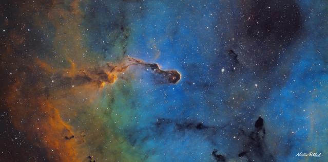 The Elephant Trunk Nebula (SHO) crop version