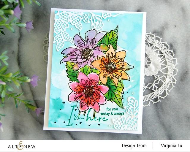 Altenew-PAF Fashion Monger Dahlia-Artists' Watercolor 24 Pan Set-Floral Lace Die-001