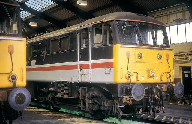 Evening Class 86s On Depot.