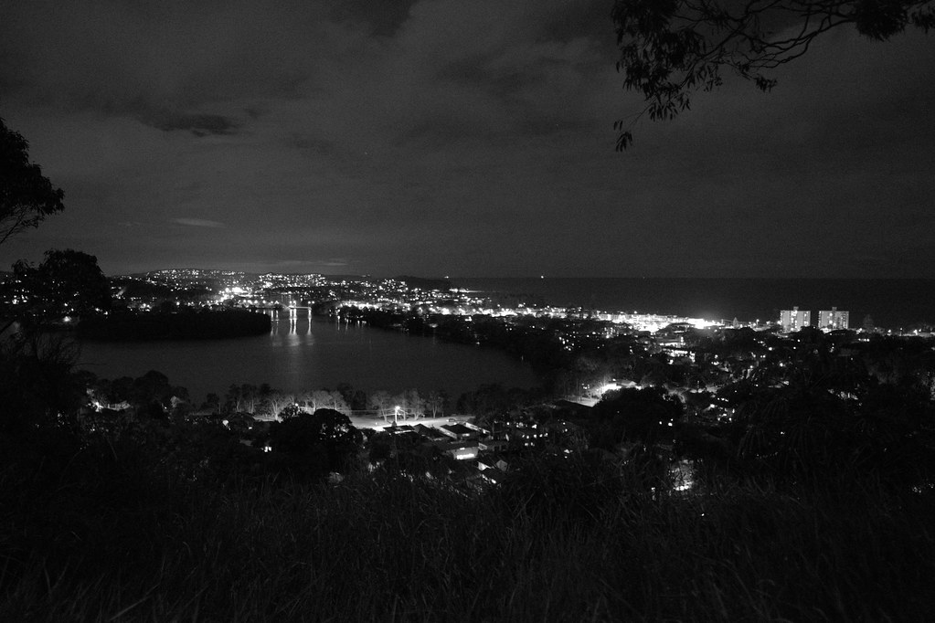 Overlooking Narrabeen at night