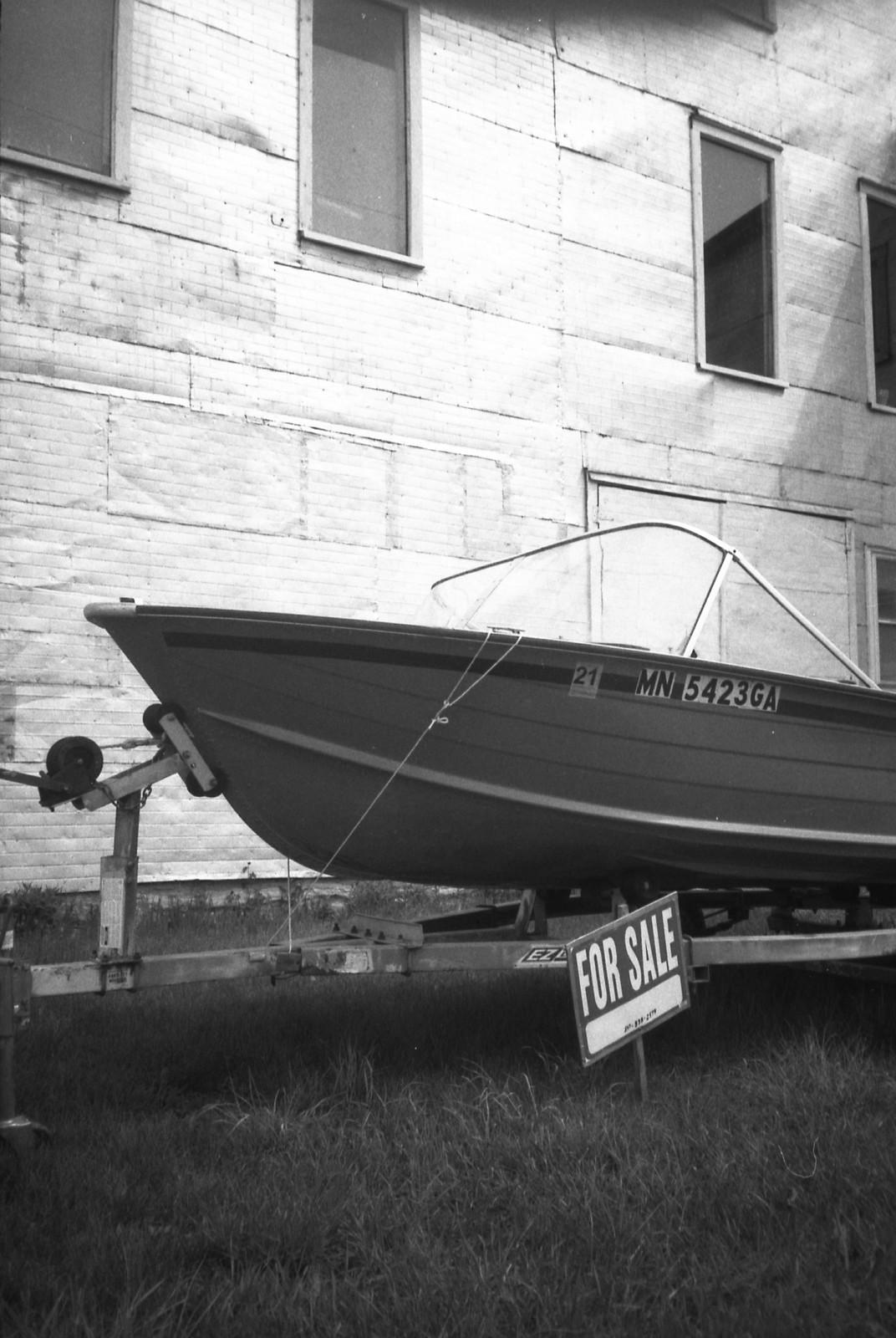 Boat for Sale, Minneapolis MN [Olympus XA / Kentmere 400]
