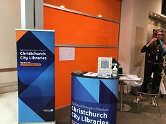 Welcome desk, Pop-up library, Eastgate Shopping Centre