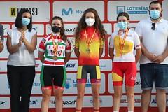 La ciclista ermuarra, medalla de plata en el Campeonato de España cadete en línea.