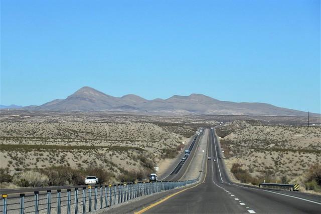 Interstate 25, mountain view, Las Palomas, New Mexico