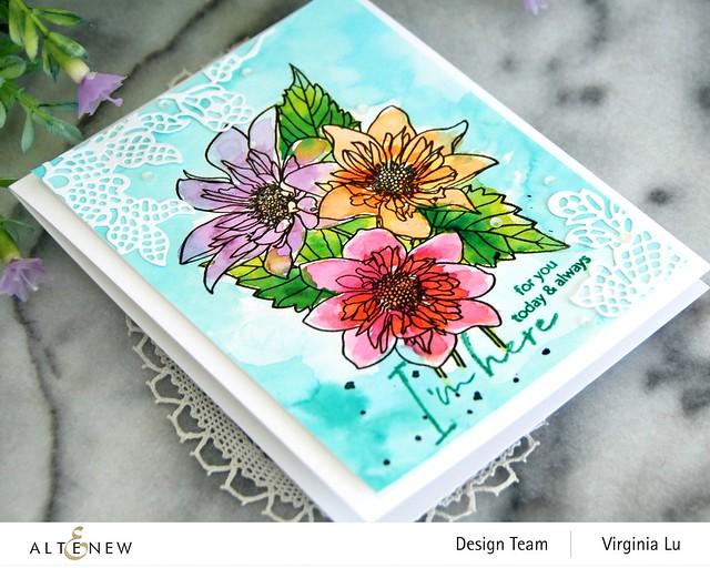 Altenew-PAF Fashion Monger Dahlia-Artists' Watercolor 24 Pan Set-Floral Lace Die-003