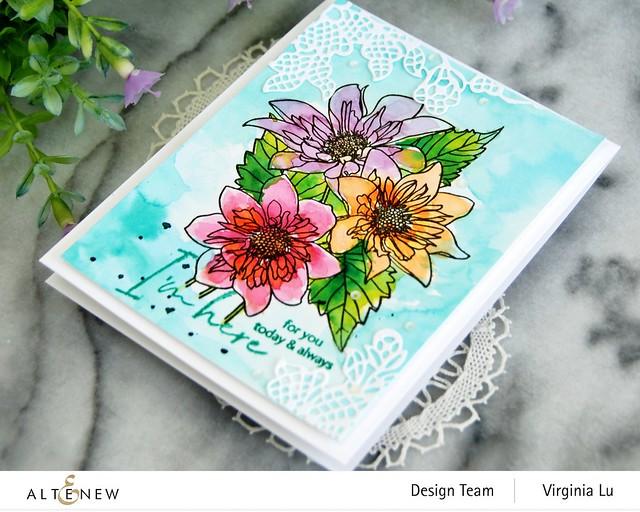 Altenew-PAF Fashion Monger Dahlia-Artists' Watercolor 24 Pan Set-Floral Lace Die-002