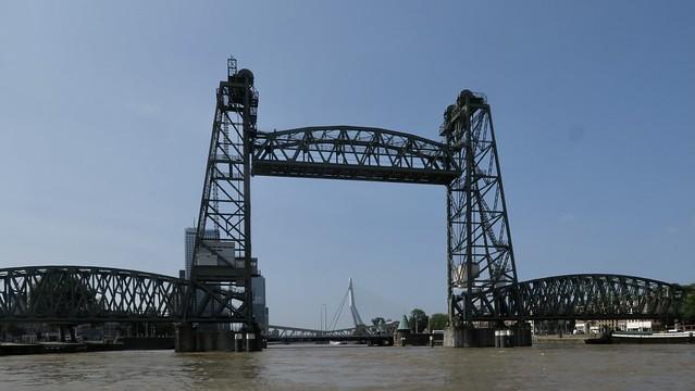 The two Iconic bridges of Rotterdam, Netherlands