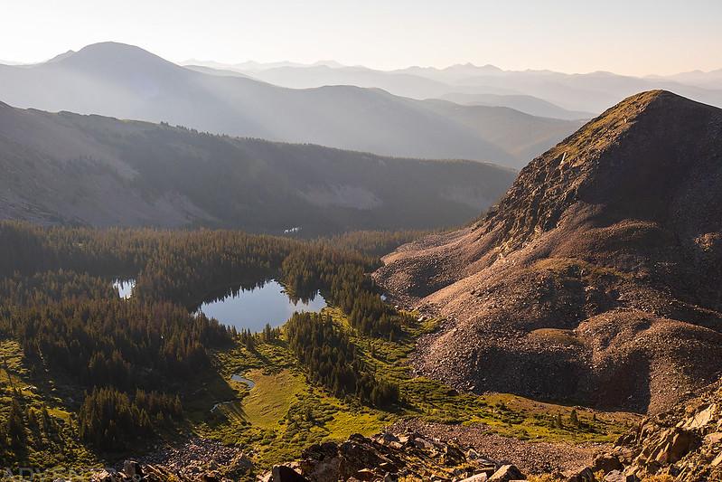 Lamphier Lakes Below