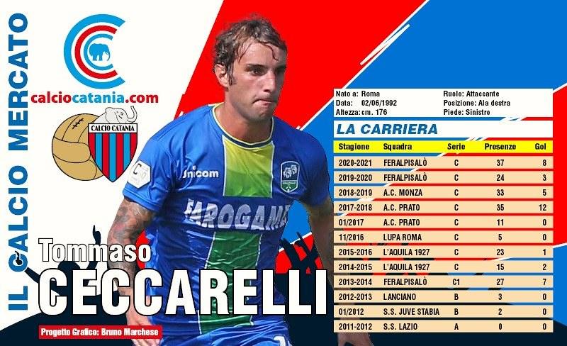 La carriera di Tommaso Ceccarelli (Grafica Bruno Marchese)