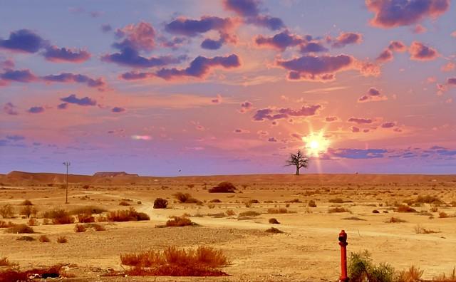 Moments Of Sunset Over The Judean Desert