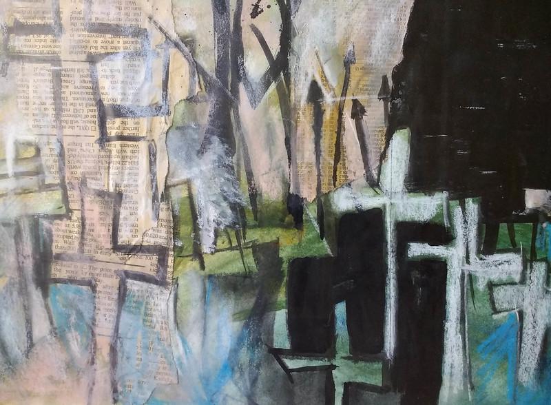 Gravestones_mixed_media_by_Gillian_Gillian_Hebblewhite_closeup1