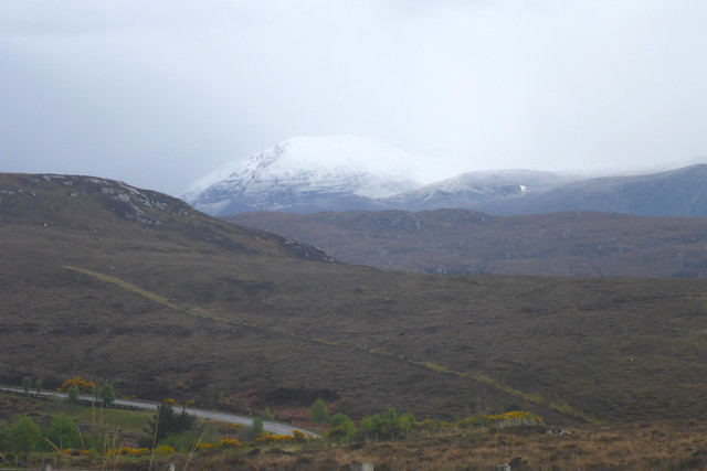 Snow capped mountains near Ullapool