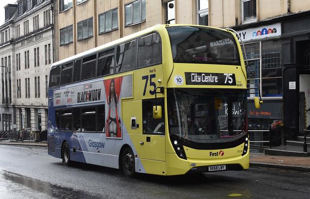 First Glasgow Alexander Dennis Enviro 400 MMC 33210HB Route 75