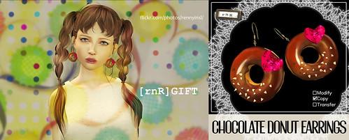 [rnR] Chocolate Donut Earrings [GIFT]
