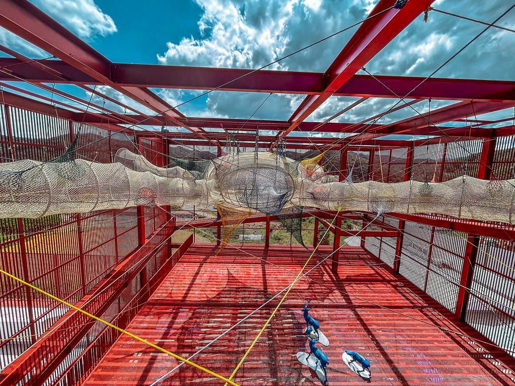 Spider Web in Red Pavilion