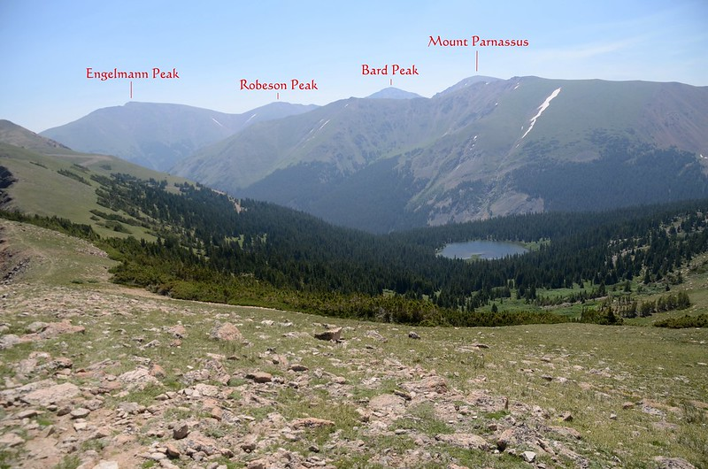 View to the southeast from Butler Gulch Trail near 12,060'