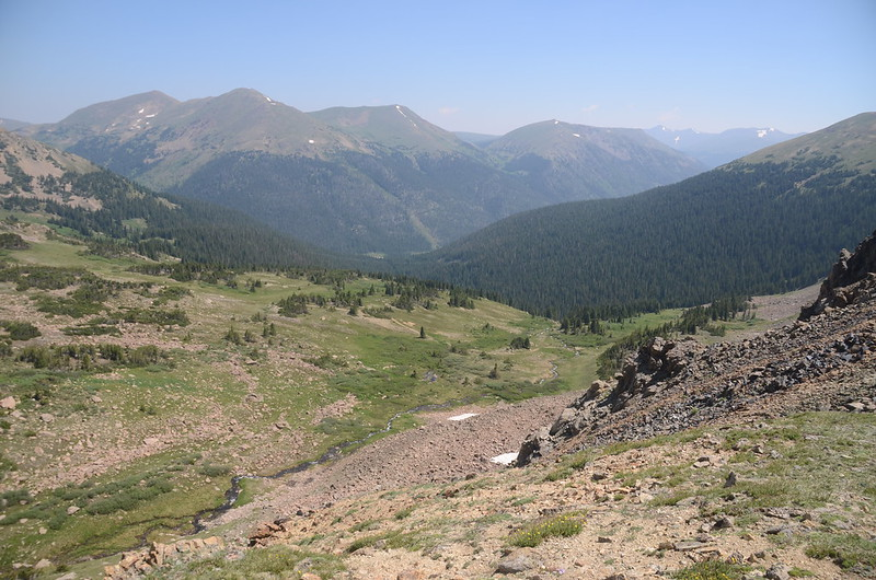 View to the northeast from Butler Gulch Trail ridge near 12,020'