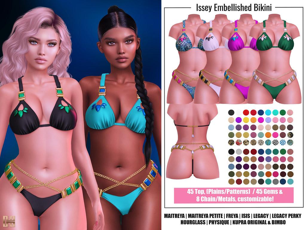 Hilly Haalan – Issey Embellished Bikini
