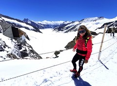 Výhled na Aletsch Gletscher z Platteau