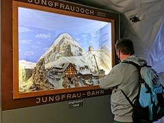 Historická expozice na Jungfraujoch