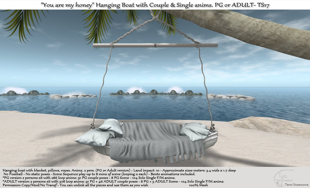 """.:Tm:.Creation """"You are my honey"""" Hanging Boat TS17"""