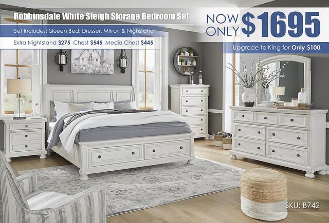 Robbinsdale Queen Storage Bedroom Set B742_July2021
