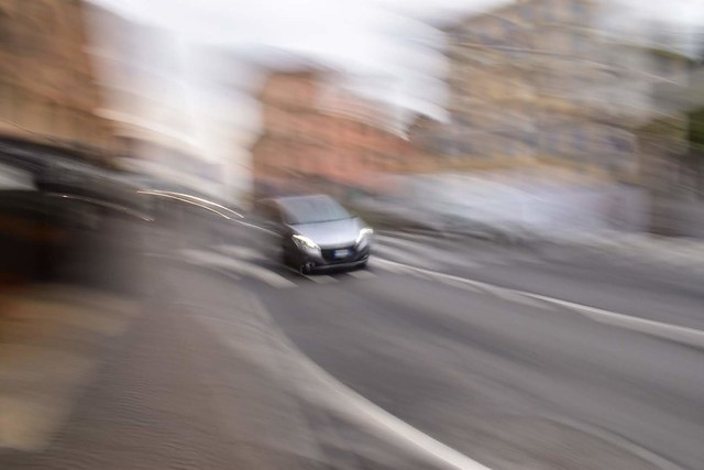 Car Appears from the Blurrness