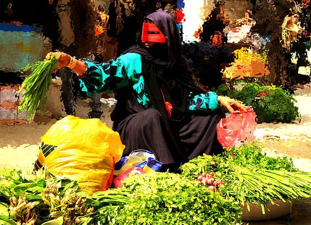 Woman in minab