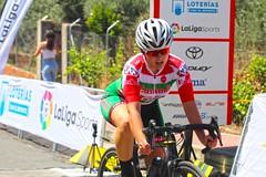 Llegada a meta de Izaro Oliveira marcando el mejor tiempo en CRI