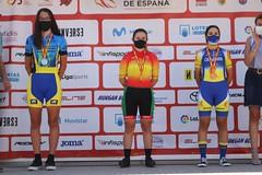 La ermuarra se ha subido al podio con la medalla de oro en contrarreloj.