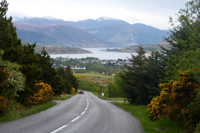 The A835 at Ullapool