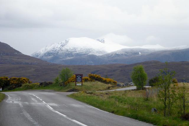 The A835 near Ullapool
