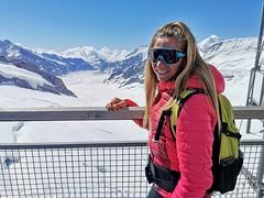 Vyhlídka Sphinx a v pozadí Aletsch Gletscher