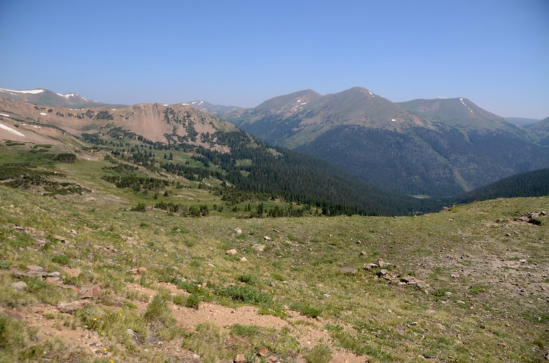 View to the northeast from Butler Gulch Trail ridge near 11,955'