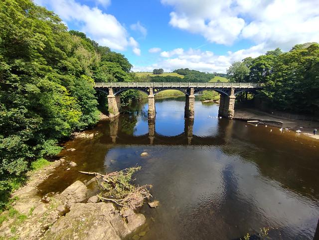 Wednesday Walk - The Disused railway bridge from the road bridge.