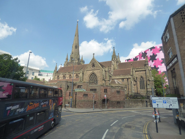 St Martin in the Bullring from Moat Lane to St Martin's Lane