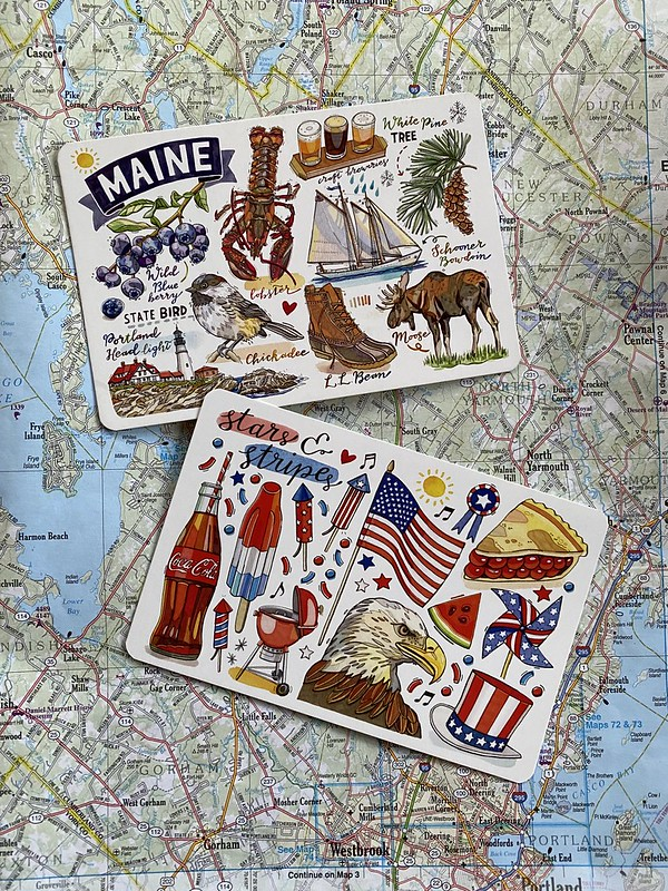 Postcards for the road trip