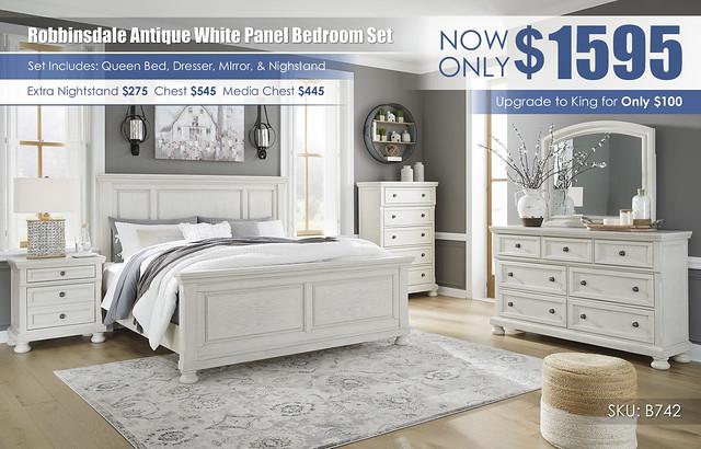 Robbinsdale Queen Panel Bedroom Set B742_July2021