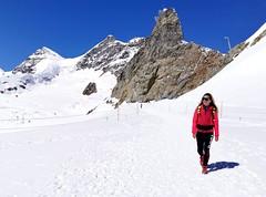Cesta z Jungfraujoch na Mönchjochshütte