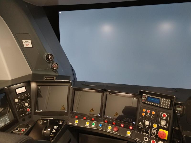 Evolution train simulator atEvolution (HCMT) trains at Pakenham East depot/TMF