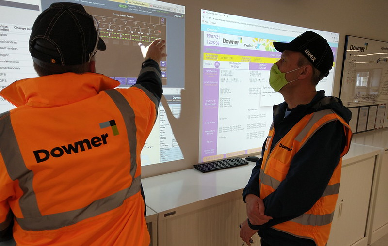 Viewing fleet management information at Pakenham East